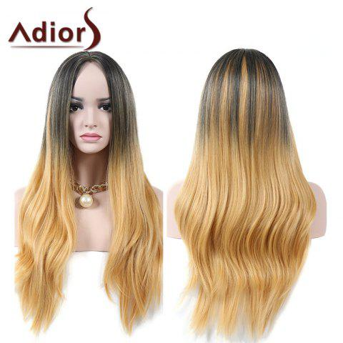 Affordable Adiors Middle Part Natural Straight Colormix Long Synthetic Wig - COLORMIX  Mobile