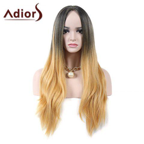 New Adiors Middle Part Natural Straight Colormix Long Synthetic Wig - COLORMIX  Mobile