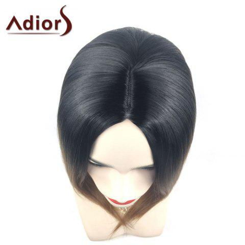 Outfits Adiors Middle Part Ombre Straight Short Bob Synthetic Wig - BLACK AND BROWN  Mobile