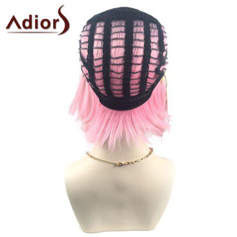 Shop Adiors Middle Part Ombre Straight Short Bob Synthetic Wig - BLACK AND RED  Mobile