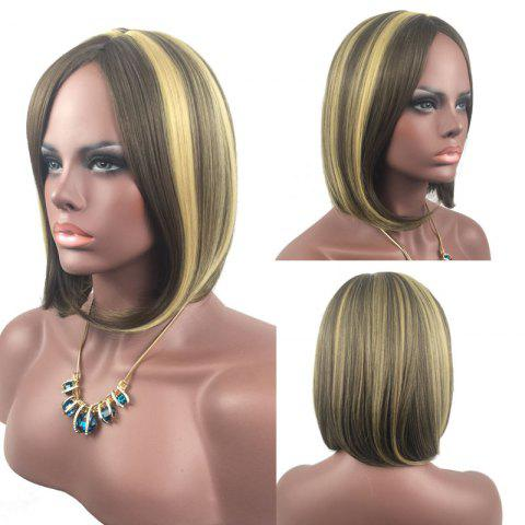 Outfit Adiors Medium Center Parting Straight Highlight Bob synthetic Wig - COLORMIX  Mobile