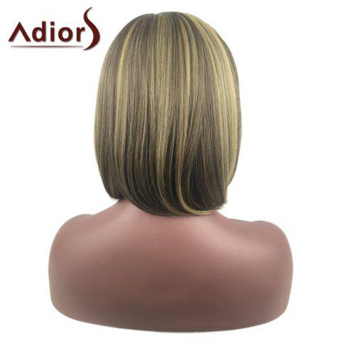 New Adiors Medium Center Parting Straight Highlight Bob synthetic Wig - COLORMIX  Mobile