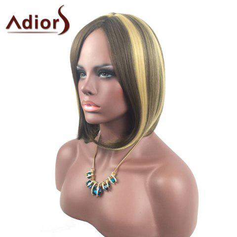 Online Adiors Medium Center Parting Straight Highlight Bob synthetic Wig - COLORMIX  Mobile