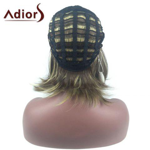 Fashion Adiors Medium Center Parting Straight Highlight Bob synthetic Wig - COLORMIX  Mobile
