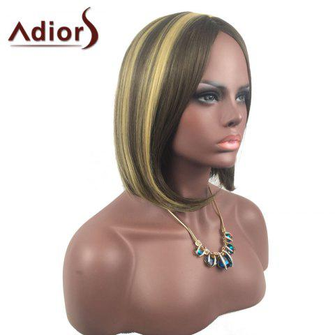 Outfits Adiors Medium Center Parting Straight Highlight Bob synthetic Wig - COLORMIX  Mobile