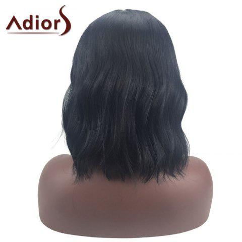 Shops Adiors Middle Part Slightly Curled Medium Synthetic Wig - BLACK  Mobile