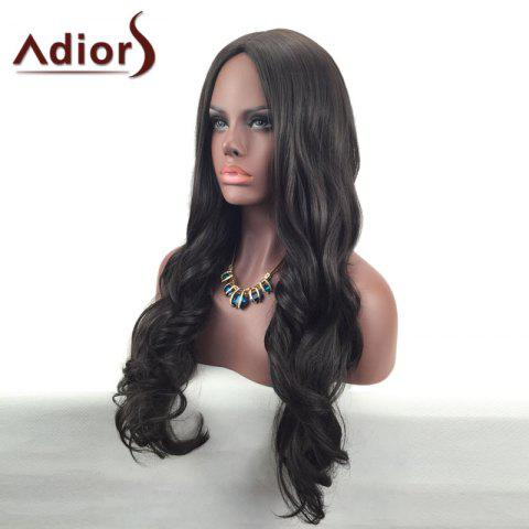 Shops Adiors Center Part Long Wavy Synthetic Wig - BROWN  Mobile