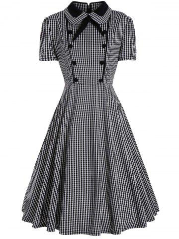 Best Plus Size A Line Plaid Midi Dress