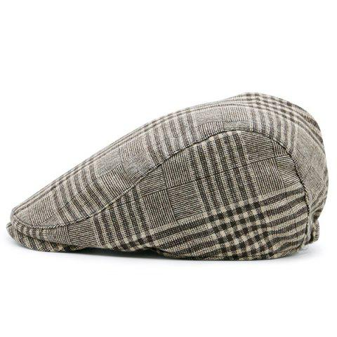 Trendy Checked Striped Vintage Newsboy Hat