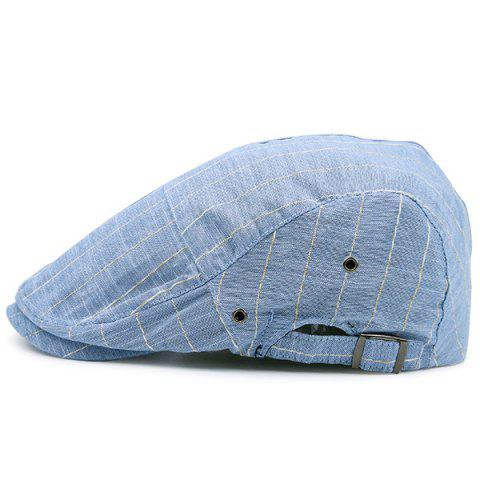 Latest Shimmer Stripe Vintage Newsboy Hat AZURE