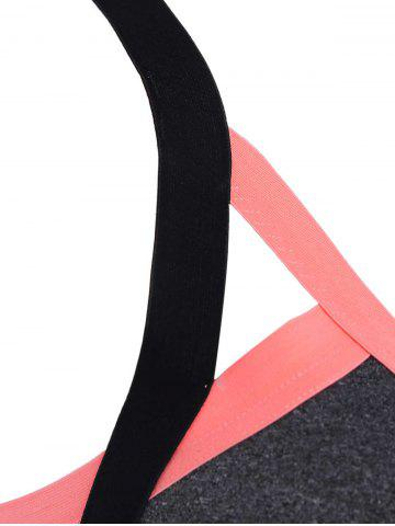 Buy Cut Out Padded Sports Bra - S ORANGE Mobile