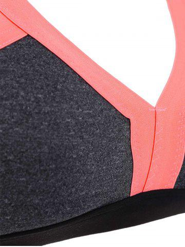 Hot Cut Out Padded Sports Bra - S ORANGE Mobile
