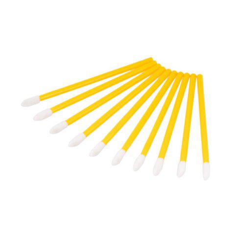 Shop 50Pcs Disposable Lip Brushes Set YELLOW