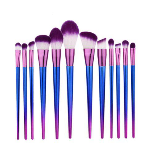 12Pcs Ombre Makeup Brushes Set - Purple
