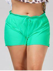 Plus Size Drawstring Swim Shorts