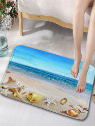 Flannel Beach Scenery Skidproof Bathroom Door Mat