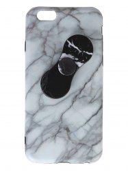 Plastic Marble Print Finger Spinner Soft TPU IPhone Cover - WHITE IPHONE 5