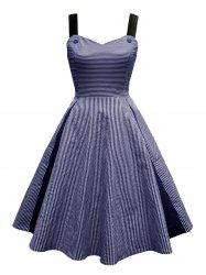 Vintage Stripe Corset Pin Up Dress