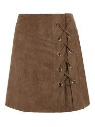 Lace Up Min iHigh Waist Skirt -