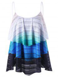 Zigzag Layered Tank Top - COLORMIX