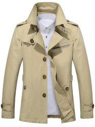 Button Up Notch Collar Slim Fit Jacket -