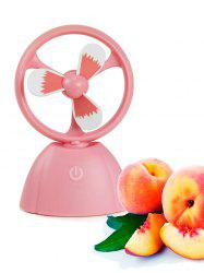 Mini ventilateur portable USB Fruit Style - ROSE PÂLE