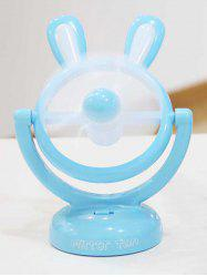 Cadeau d'anniversaire Mini table portable USB Cartoon Rabbit Fan - Bleu