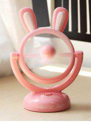 Cadeau d'anniversaire Mini table portable USB Cartoon Rabbit Fan - ROSE PÂLE
