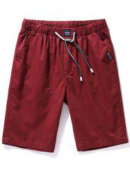 Pockets Drawstring Chino Shorts