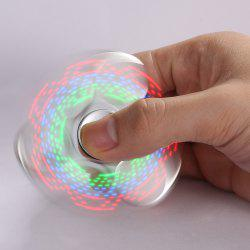 Electroplated Fidget Spinner with 18 Changing Patterns LED Light - SILVER