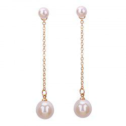 Faux Pearl Drop Earrings Jacket - GOLDEN