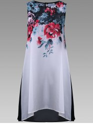 Floral Sheer Long Top - Multicolore