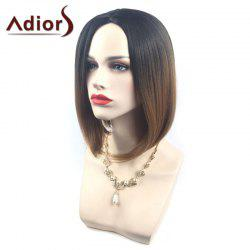 Adiors Middle Part Ombre Straight Short Bob Synthetic Wig