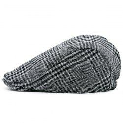 Checked Striped Vintage Newsboy Hat