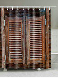 Eco-Friendly Original Wood Door Fabric Shower Curtain