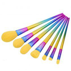 7Pcs Rainbow Triangle Shape Handle Makeup Brushes Set