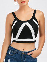 Knit Contrast Cropped Tank Top