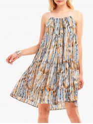 Bohemia Print Casual Tunic Swing Dress - ORANGE