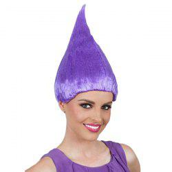 Flame Shape Trolls Peluca Cosplay Wig - PURPLE