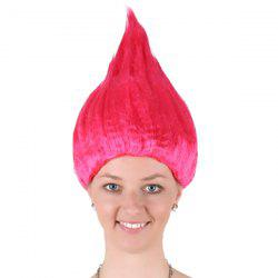 Flame Shape Trolls Peluca Cosplay Wig - ROSE MADDER