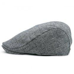 Dense Checked Vintage Flat Hat - GRAY