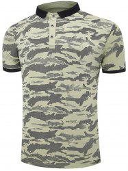 Short Sleeve Camouflage Polo T-shirt