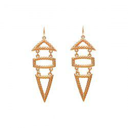 Alloy Triangle Geometric Hook Earrings