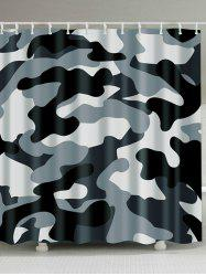 Thicken Waterproof Fabric Camo Shower Curtain