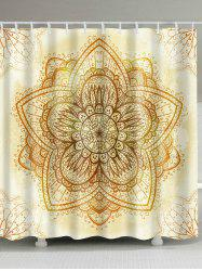 Waterproof Polyester Indian Mandala Shower Curtain
