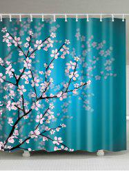 Plum Blossom Mouldproof Shower Curtain For Bathroom - LAKE BLUE