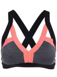Cut Out Padded Sports Bra - ORANGE L