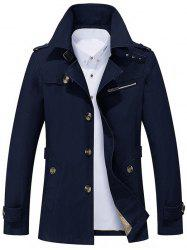 Button Up Notch Collar Slim Fit Jacket