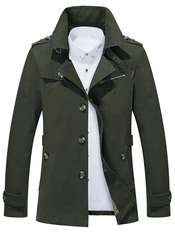 Best Button Up Notch Collar Slim Fit Jacket