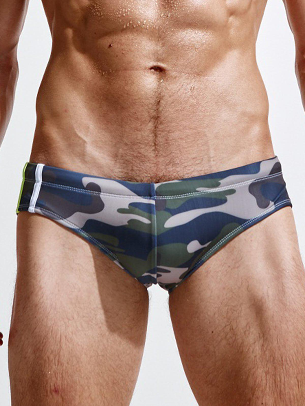 Chic Low Rise Camouflage Swimming Briefs